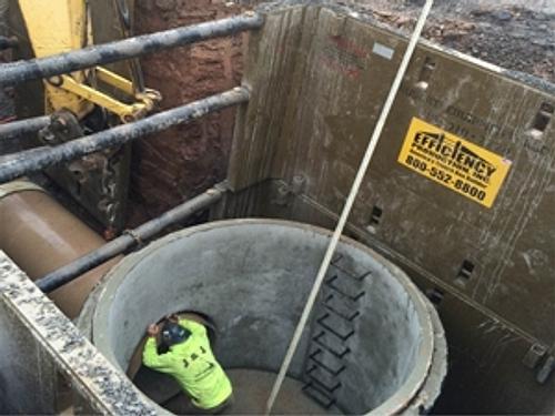 Two MHXLDW Manhole Shields